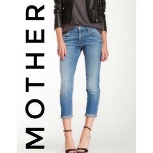MOTHER Skinny Not Skinny Jeans 27 Blue Skies Crop